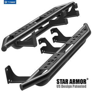 Tyger Star Armor For 2007 2014 Toyota Fj Cruiser Black Side Step Nerf Bars