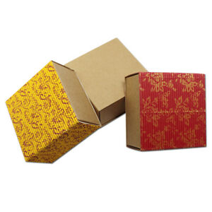 Gift Boxes Kraft Paper Corrugated Wedding Favor Box Handmade Soap Jewelry Box
