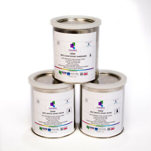 White Epoxy Resin 100 Solids For Garage Floor concrete plywood 3 Qt Kit