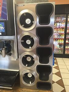 Coffee Smoothie Juices Cup Dispenser Cabinet