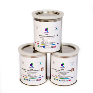 Beige Epoxy Resin 100 Solids For Garage Floor plywood concrete 3 Quart Kit