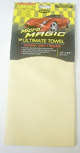 2 Synthetic Chamois Home And Auto Microfiber Magic Cleaning And Drying Towel