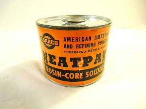 Vintage Rosin core Solder 60 40 5lb Container Used