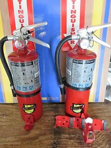 Two New 2018 buckeye 5 lb Abc Fire Extinguishers With Wall Vehicle Bracket