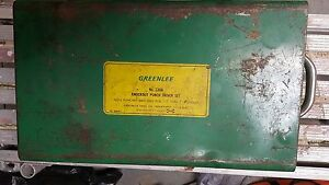Greenlee 7306 Hydraulic Knock out Punch Driver Set 767 746 1 2 2 1 4 Used