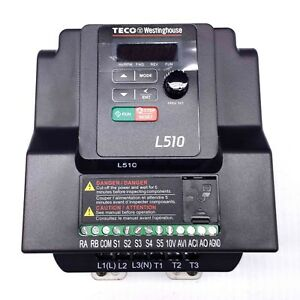 L510 101 h1 u 1hp Teco Variable Frequency Drive 1 Ph Input 3 Ph Out 115v