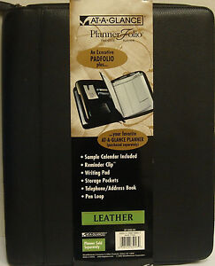 At a glance Planner Folio Executive Leather Planner 87 009 05