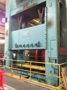 Danly Straight Side Double Crank Punch Press 1 500 Ton X 156 X 72 Bed 7350c