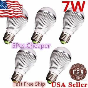 5x Super Bright High Power 7w 12v E27 Home Led Bulb Rv Lights E26 M