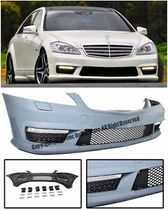Amg Style No Pdc Front Bumper Cover W Fog Lights Drl For 07 13 Mb W221 S Class