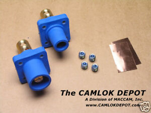 Camlok 2 4 0 Male Female Blue Panel Mount Pair Kit