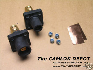 Camlok 2 4 0 Male Female Black Panel Mount Pair Kit