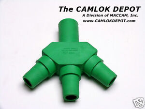 Camlok three fer Green