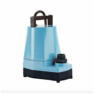Little Giant Submersible Utility Pump Water Removal Transfer Electric 115 Volt
