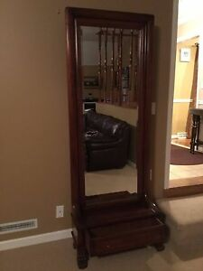 Fabulous Antique Hall Tree Bench With Mirror Great Claw Feet Drawer