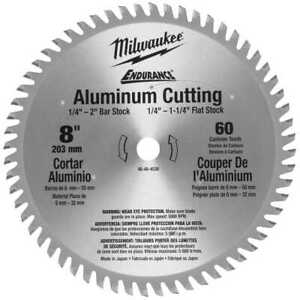 8 60 Teeth Aluminum Circular Saw Blade Milwaukee 48 40 4530 New
