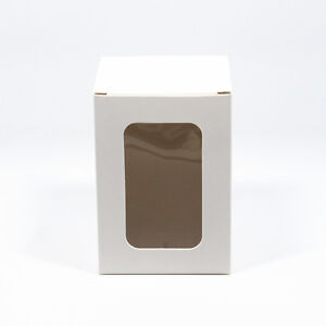 White Paper Party Gift Box With Window Toys Craft Display Boxes Cardboard Box