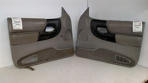 1995 1997 Ford Ranger Driver Passenger Interior Door Trim Panels Trim Gray E2