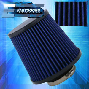 Universal 2 75 Inch High Flow Air Intake Turbo Supercharger Blue Black Filter