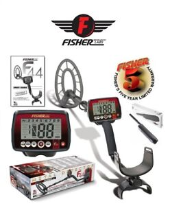 Fisher F44 Metal Detector 11 Water Proof Coil Gb Beach River Free Fpoint New
