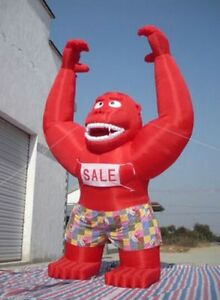 20ft Inflatable Red Gorilla Advertising Promotion With Blower T