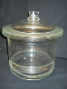 10 Non vacuum Glass Desiccator With Knob Lid Unbranded