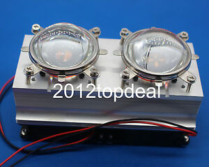 100w 200w High Power Led Heatsink Cooling With Fans 57mm Lens reflector Bracket