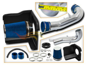 Cold Heat Shield Air Intake Blue For 07 08 Silverado Sierra 1500 4 8 5 3 6 0