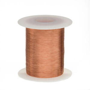 34 Awg Gauge Enameled Copper Magnet Wire 2 Oz 1011 Length 0 0069 155c Natural