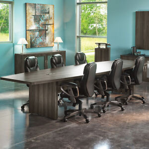 6ft 18ft Modern Conference Table With Power And Data Meeting Boardroom 8 10 12