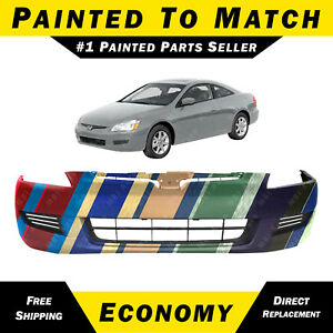 New Painted To Match Front Bumper Cover For 2003 2005 Honda Accord Coupe 03 05