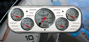 37 38 Chevy Car Dash Insert 5 Gauge Auto Meter 1300 Arctic White Set