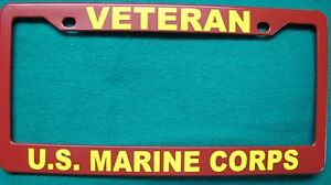 License Plate Frame Polished Abs Veteran U S Marine Corps 8618yr
