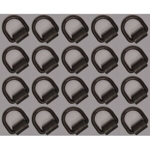 20 Weld on 1 2 D Rings Strap Tie Down Cargo Flatbed Truck Trailer Ring