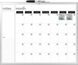 The Board Dudes 16x20 inches Aluminum Framed Magnetic Dry erase Calendar With