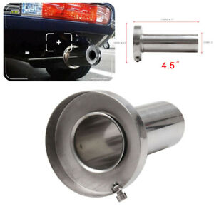 4 5 Round Tip Silencer Exhaust Muffler Removable Stainless Steel For Acura Hond