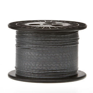 22 Awg Gauge Solid Hook Up Wire Gray 1000 Ft 0 0253 Ul1007 300 Volts