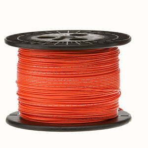 22 Awg Gauge Solid Hook Up Wire Orange 1000 Ft 0 0253 Ul1007 300 Volts
