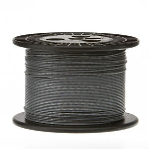 22 Awg Gauge Stranded Hook Up Wire Gray 1000 Ft 0 0253 Ul1007 300 Volts