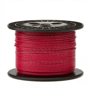 22 Awg Gauge Stranded Hook Up Wire Red 1000 Ft 0 0253 Ul1007 300 Volts