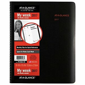 At a glance Weekly Monthly Appointment Book Planner 2017 8 1 4 X 10