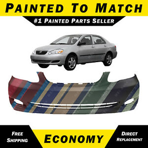 New Painted To Match Front Bumper Cover For 2005 2008 Toyota Corolla Ce Le 05 08