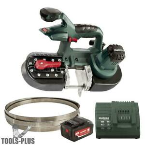 Band Saw With 5 2ah Battery Charger Metabo 613022850 New