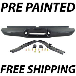 New Painted To Match Complete Rear Steel Bumper For 1995 2004 Toyota Tacoma