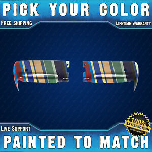 New Painted To Match Pair Of Steel Rear Bumper End Caps For 2009 2014 Ford F150