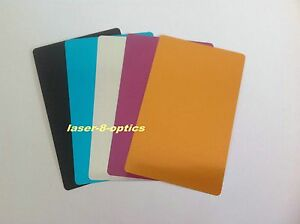 100pcs Colorful Blank Metal Business Cards Laser Marking Material Thick style