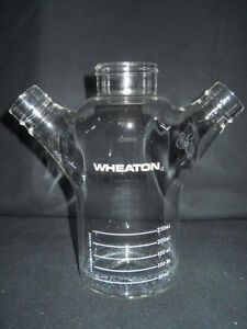 Wheaton Double Sidearm 250ml Celstir Spinner Flask No Caps 356879 Chipped