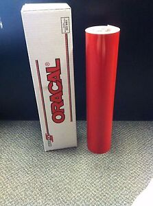 Oracal 651 1 Roll 24 x10yd 30ft Red 031 Gloss Sign Vinyl