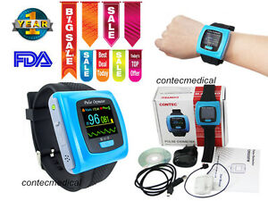 Oled Wrist Fingertip Pulse Oximeter Spo2 Pr Monitor adult Probe usb Pc Sw Alarm