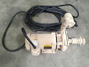 New Centrifugal Water Pump With Baldor Motor 3450 Rpm 1 Hp 230 460v